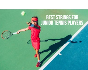 The Best Strings for Junior Tennis Players Mobile Feature image