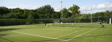 David Lloyd Chigwell synthetic grass outdoor tennis court