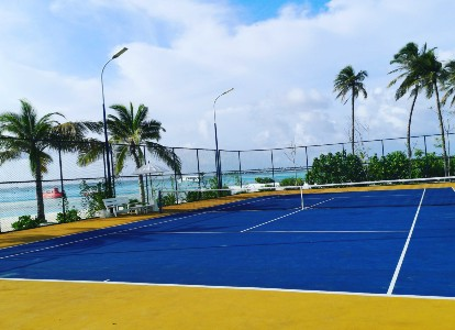 Tennis court at Ozen by Atmosphere, Maldives